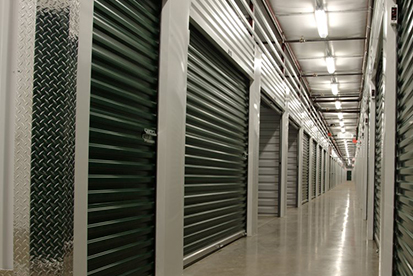 Inside the self storage units that are located indoors